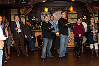 """Gary Monterosso and his friends gather at the Foundation Room in the House of Blues at the Showboat hotel and Casino in Atlantic City, Nj to watch his appearance on the History Channel show """"The Epic History of Everyday Things."""" Gary's role as one the nation's most respected authorities on Beer compelled the show's producers to tap his insight into the popular beverage's """"epic"""" history."""