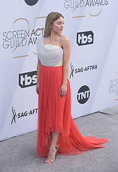 January 27, 2019 - Los Angeles, California, U.S - Sydney Sweeney at the red carpet of the 25th Annual Screen Actors Guild Awards held at  the Shrine Auditorium in Los Angeles, California, Sunday January 27, 2019. JAVIER  ROJAS/PI (Credit Image: © Prensa Internacional via ZUMA Wire)