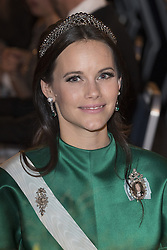 Prinzessin  Sofia<br /> <br />  <br /> <br />  beim Nobelbankett 2016 im Rathaus in Stockholm / 101216 <br /> <br /> <br /> <br /> ***The Nobel banquet, Stockholm City Hall, December 10th, 2016***