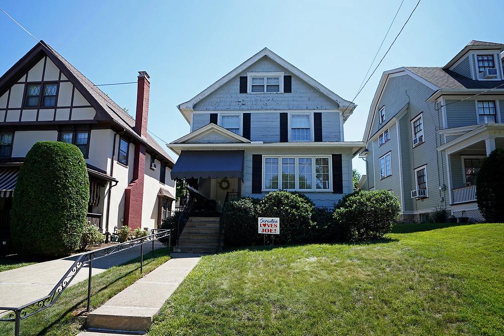 Democratic presidential candidate former Vice President Joe Biden's childhood home in Scranton, Pennsylvania.