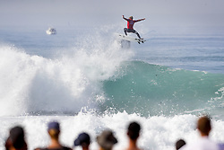October 13, 2017 - Hossegor, France - Reigning World Champion and current World No.2 on the Jeep Leaderboard JOHN JOHN FLORENCE of Hawaii advanced to Round Four of the 2017 Quiksilver Pro France after defeating rookie Ethan Ewing of Australia in Heat 7 of Round Four at Hossegor, Landes, France.  Florence posted a near perfect heat total of 19.16 points (out of a possible 20.00) for two near perfect single wave scores of 9.73 and 9.43 (each out of a possible 10.00). (Credit Image: © Rex Shutterstock via ZUMA Press)