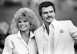 File photo - Burt Reynolds and Loni Anderson at Royal Palm Polo in Boca Raton, Fla. on March 15 1987. Reynolds and Anderson flew in by helicopter before a polo match to receive an award. 1970s' movie heartthrob and Oscar nominee Burt Reynolds has died at the age of 82. He reportedly passed away in a Florida hospital from a heart attack with his family by his side. Photo by Anne Ryan/Sun Sentinel/TNS/ABACAPRESS.COM