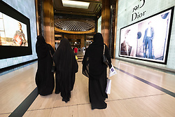Luxury fashion boutiques in Prestige section of The Avenues shopping mall in Kuwait City, Kuwait.