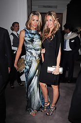 Left to right, LISA BUTCHER and MELISSA ODABASH at the Krug Mindshare auction held at Sotheby's, New Bond Street, London on 1st November 2010.
