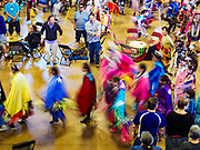 06 MAY 2017 - ST. PAUL, MN: The Grand Entry at the 6th Annual Powwow for Hope at Ft. Snelling in St. Paul. The powwow was a fundraiser to support cancer education and supportive services for American Indian communities. Proceeds benefited the American Indian Cancer Foundation's work to eliminate cancer burdens on American Indian families. Cancer is the leading cause of death in Native American communities, exceeding coronary disease and diabetes.       PHOTO BY JACK KURTZ