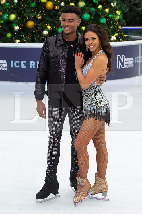 © Licensed to London News Pictures. 18/12/2018. London, UK. Wes Nelson and Vanessa Bauer attends a photocall for the launch of ITV's Dancing On Ice new series. Photo credit: Ray Tang/LNP