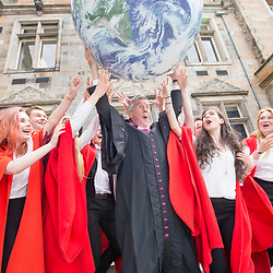 Michael Palin after he had received an Honorary Degree from St Andrews University