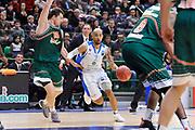 DESCRIZIONE : Eurocup 2014/15 Last32 Dinamo Banco di Sardegna Sassari -  Banvit Bandirma<br /> GIOCATORE : David Logan<br /> CATEGORIA : Palleggio Penetrazione<br /> SQUADRA : Dinamo Banco di Sardegna Sassari<br /> EVENTO : Eurocup 2014/2015<br /> GARA : Dinamo Banco di Sardegna Sassari - Banvit Bandirma<br /> DATA : 11/02/2015<br /> SPORT : Pallacanestro <br /> AUTORE : Agenzia Ciamillo-Castoria / Luigi Canu<br /> Galleria : Eurocup 2014/2015<br /> Fotonotizia : Eurocup 2014/15 Last32 Dinamo Banco di Sardegna Sassari -  Banvit Bandirma<br /> Predefinita :