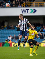 Steve Morison of Millwall during the FA Cup match at The Den, London<br /> Picture by Liam McAvoy/Focus Images Ltd 07413 543156<br /> 29/01/2017