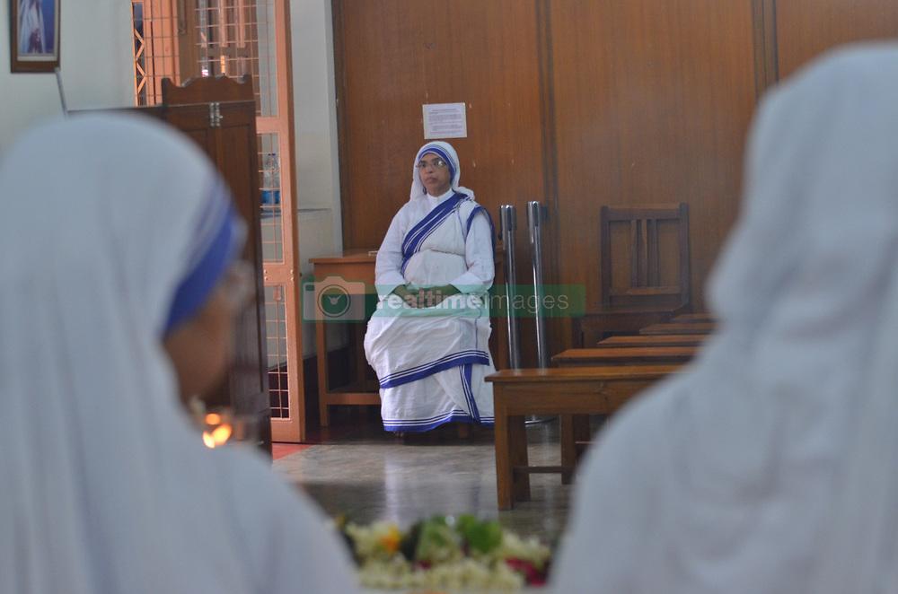 August 26, 2017 - Kolkata, West Bengal, India - People of Kolkata pay their homage to Mother Teresa 107 years birth anniversary in Mother House Kolkata on 26-8-2017 (Credit Image: © Sandip Saha/Pacific Press via ZUMA Wire)