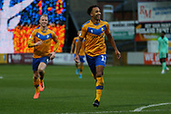 Mansfield Town forward Nicky Maynard (11) celebrates after scoring his second goal during the EFL Sky Bet League 2 match between Mansfield Town and Carlisle United at the One Call Stadium, Mansfield, England on 1 February 2020.