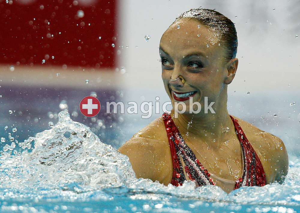 Marie-Pier BOUDREAU-GAGNON of Canada performs in the Synchronized (synchronised) Swimming Solo Free Final during the 14th FINA World Aquatics Championships at the Oriental Sports Center in Shanghai, China, Wednesday, July 20, 2011. (Photo by Patrick B. Kraemer / MAGICPBK)