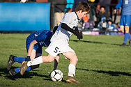 Skaneateles plays Haverling  in a New York State Public High School Athletic Association Class B boys' soccer semifinal game at  in Middletown, N.Y., on Nov.16, 2019.