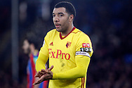 Troy Deeney of Watford looks on. Premier League match, Crystal Palace v Watford at Selhurst Park in London on Tuesday 12th December 2017. pic by Steffan Bowen, Andrew Orchard sports photography.