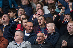 South stand after Falkirk's Craig Sibbald scored their first goal. Falkirk 2 v 1 Dunfermline, Scottish Championship game played 15/10/2016, at The Falkirk Stadium.