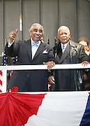 l to r: Congressman Charles Rangel and The Honorable David N. Dinkins at the Pre-Election party hosted by Congressman Charles Rangel held on the grounds of The Adam Clayton Powell State Office Building in Harlem on Election night, November 4, 2008..Democratic Presidential Candidate Barack Obama is declared victor and President-Elect as the 44th U.S. President making him the first African-American President in its 225 year history.