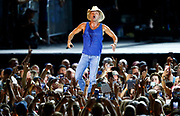 Kenny Chesney performs during a concert at Nissan Stadium Saturday, Aug. 11, 2018 in Nashville, Tenn.