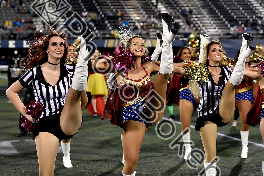 2016 October 29 - FIU Golden Dazzlers performing during halftime at Ocean Bank field, Miami, Florida. (Photo by: Alex J. Hernandez / photobokeh.com) This image is copyright by PhotoBokeh.com and may not be reproduced or retransmitted without express written consent of PhotoBokeh.com. ©2016 PhotoBokeh.com - All Rights Reserved