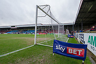Sky Bet pitch popper inside Glanford Park before during the EFL Sky Bet League 1 match between Scunthorpe United and Rotherham United at Glanford Park, Scunthorpe, England on 10 February 2018. Picture by Craig Zadoroznyj.