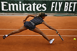 May 22, 2019 - Paris, France - Whitney Osugwe of USA in action during the first qualifications round of Roland Garros against Myrtille Georges of France, on 22 May 2019 in Paris, France, (Credit Image: © Ibrahim Ezzat/NurPhoto via ZUMA Press)