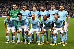 Manchester City team group - Mandatory by-line: Matt McNulty/JMP - 26/09/2017 - FOOTBALL - Etihad Stadium - Manchester, England - Manchester City v Shakhtar Donetsk - UEFA Champions League Group stage - Group F