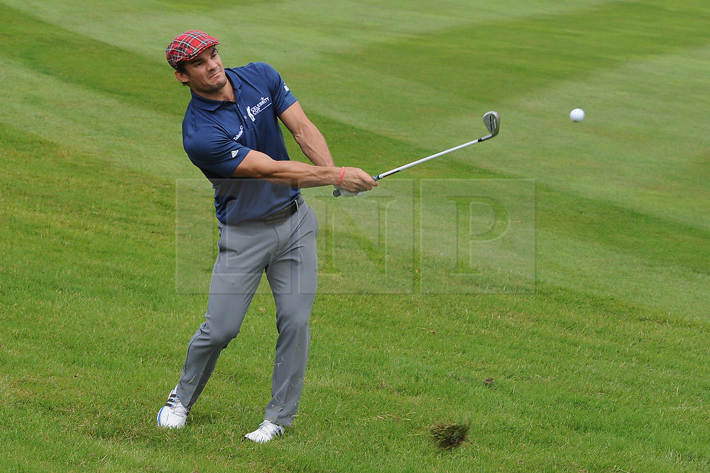 © Licensed to London News Pictures. 01/07/2017. London, UK, International rugby player Max Evans during The 2017 Celebrity Cup golf tournament at the Celtic Manor Resort, Newport, South Wales. Photo credit: Jeff Thomas/LNP