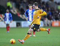 GOAL - Newport County's Adam Chapman scores his sides first goal from a penalty <br /> <br /> Photographer Ashley Crowden/CameraSport<br /> <br /> Football - The Football League Sky Bet League Two - Newport County AFC v Carlisle United - Saturday 3rd January 2015 - Rodney Parade - Newport<br /> <br /> © CameraSport - 43 Linden Ave. Countesthorpe. Leicester. England. LE8 5PG - Tel: +44 (0) 116 277 4147 - admin@camerasport.com - www.camerasport.com