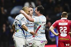 January 19, 2019 - Paris, France, FRANCE - joie des joueurs du RM92 apres l essai de Simon Zebo  (Credit Image: © Panoramic via ZUMA Press)
