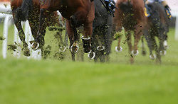 Runners and riders in the Deepbridge Capital Maiden Stakes during City Day of the 2018 Boodles May Festival at Chester Racecourse. PRESS ASSOCIATION Photo. Picture date: Wednesday May 9, 2018. See PA story RACING Chester. Photo credit should read: Tim Goode/PA Wire