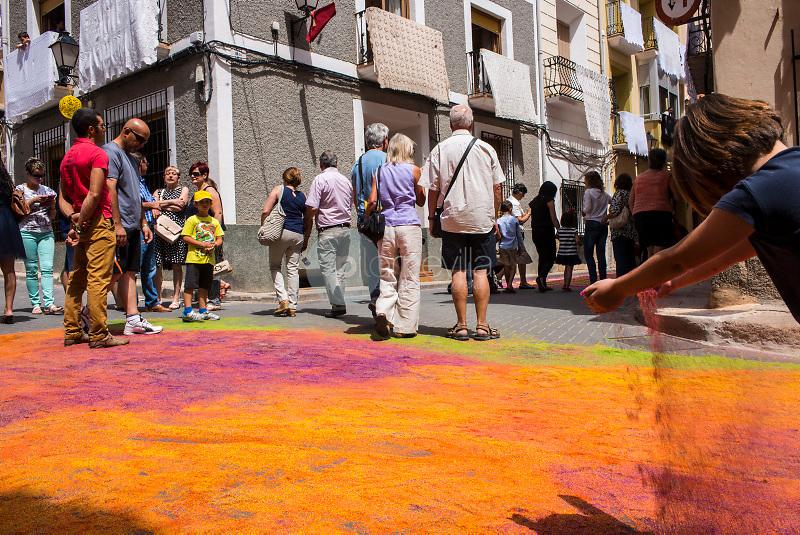 Alfombras de Serrín 2014. Elche de la Sierra. Albacete ©ANTONIO REAL HURTADO / PILAR REVILLA