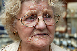 Portrait of an old lady; on a trip to Bridlington with Kindred Spirits; part of Age Concern,