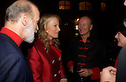 Prince and  Princess Michael of Kent and Count Christophe Gollut.  Blood Wedding Post - performance party. Count Christophe Gollut's annual fundraising Gala for the Almeida. Islington. London. 17 May 2005. ONE TIME USE ONLY - DO NOT ARCHIVE  © Copyright Photograph by Dafydd Jones 66 Stockwell Park Rd. London SW9 0DA Tel 020 7733 0108 www.dafjones.com