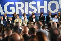 April 29, 2019 - RibeirãO Preto, Brazil - RIBEIRÃO PRETO, SP - 29.04.2019: BOLSONARO ABRE AGRISHOW EM RIBEIRÃO PRETO - President Jair Bolsonaro addresses the opening ceremony of the Agrishow Agriculture fair in Ribeirão Preto, in the interior of São Paulo. In the photo, authorities, ministers and politicians at the opening ceremony. (Credit Image: © André Luis Ferreira/Fotoarena via ZUMA Press)