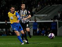 Photo: Steve Bond.<br />Notts County v Hereford United. Coca Cola League 2. 02/10/2007. Steve Guinan fires home Hereford goal no3
