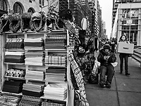 Scarf vendor along Fifth Avenue and 59th Street in New York City