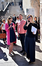 Milan Fashion Week, bloggers , Web Editor, influencer at Grinko fashion show, in Duomo square. 21 Sep 2017 Pictured: Milan Fashion Week, bloggers , Web Editor, influencer. Photo credit: Fotogramma / MEGA TheMegaAgency.com +1 888 505 6342