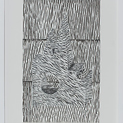 "Title: Block #2<br /> Artist: Nicholas Whitfield<br /> Date: 2015<br /> Medium: Ink on paper<br /> Dimensions: 19 x 25""<br /> Instructor: Brian Johnson<br /> Status: On Display<br /> Location: Art & Digital Media Office Suite<br /> Highland Campus HLC4 Bldg 4000, Room 2110"
