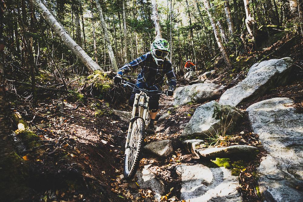 Bill Frazer downhilling Whiteface Mountain, Wilmington, New York.