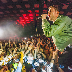 Blur on stage at Barrowland 9/6/2015
