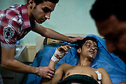 Seif Abdullah Sadeh, 18, was hit by one of a pair of explosions in Sadr City on 5 January 2012. Seif suffered burns to his face and had to have one of his legs amputated due to the severity of his injuries.