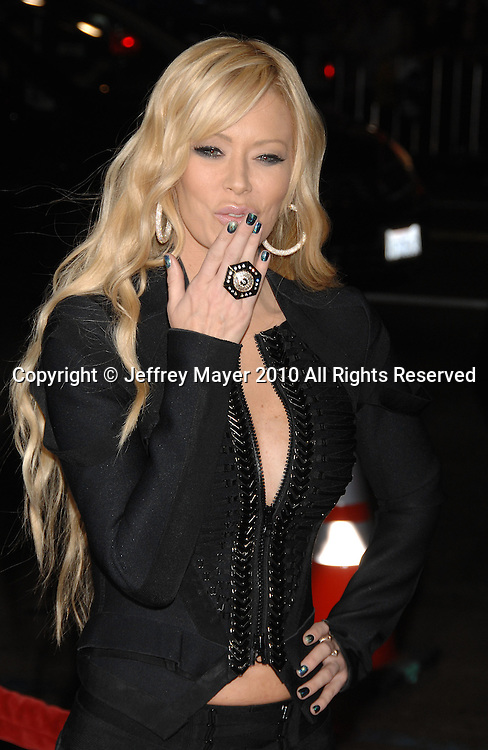 """HOLLYWOOD, CA. - October 13: Jenna Jameson arrives at the """"Jackass 3D"""" Los Angeles Premiere at the Grauman's Chinese Theater on October 13, 2010 in Hollywood, California."""