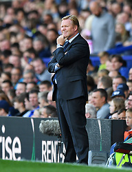 """Everton manager Ronald Koeman during the Premier League match at Goodison Park, Liverpool. PRESS ASSOCIATION Photo. Picture date: Saturday August 12, 2017. See PA story SOCCER Everton. Photo credit should read: Anthony Devlin/PA Wire. RESTRICTIONS: EDITORIAL USE ONLY No use with unauthorised audio, video, data, fixture lists, club/league logos or """"live"""" services. Online in-match use limited to 75 images, no video emulation. No use in betting, games or single club/league/player publications."""