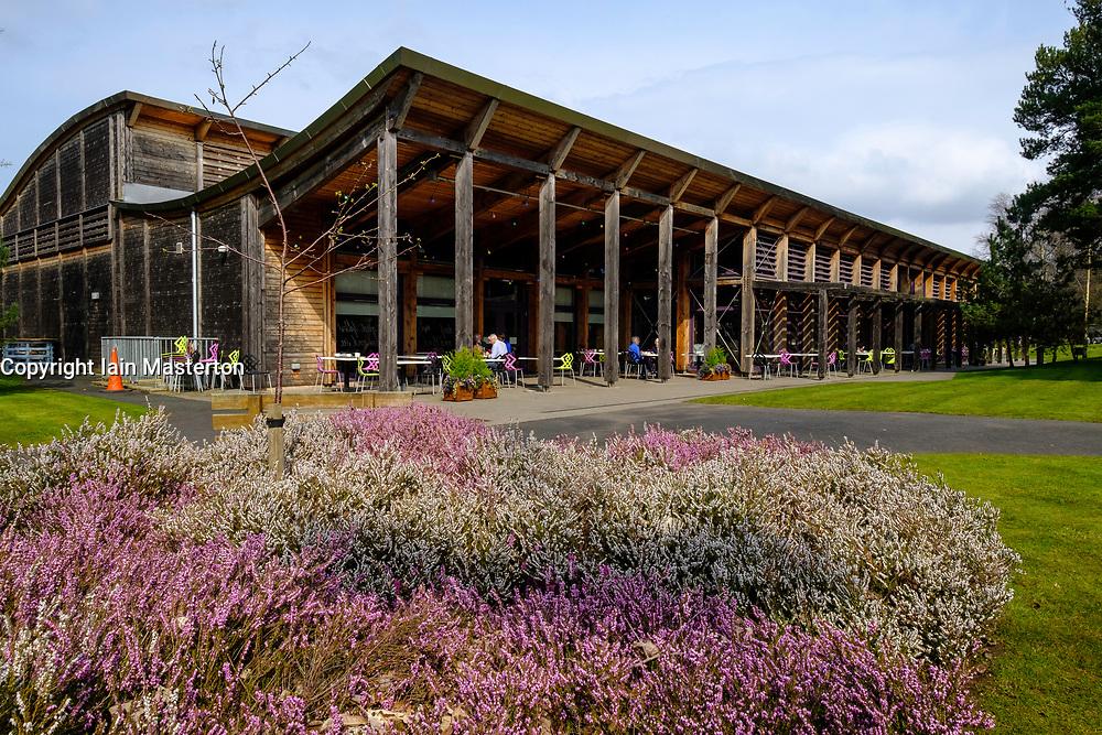Exterior of garden at Robert Burns birthplace Museum in Alloway, Ayrshire, Scotland, UK