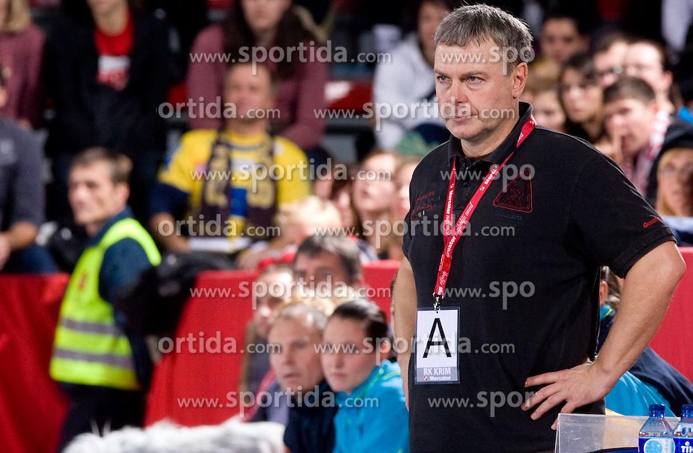 Coach of Hypo Ferenc Kovacs at handball match of Round 3 of Champions League between RK Krim Mercator and Hypo Niederosterreich, on November 8, 2009, in Arena Kodeljevo, Ljubljana, Slovenia.  Krim won 35:24. (Photo by Vid Ponikvar / Sportida)