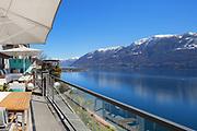 Panoramic view of Lake Maggiore in Ticino, Switzerland
