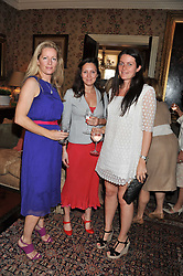 Left to right, JULIET FETHERSTONHAUGH, GEMMA RICHELMANN and ALICE DEEN at a lunch in aid of the charity Kids Company held at Mark's Club, 46 Charles Street, London on 3rd October 2011.