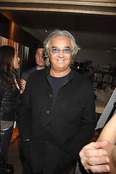 FLAVIO BRIATORE at a party to celebrate the publication of Lisa B's book 'Lifestyle Essentials' held at the Cook Book Cafe, Intercontinental Hotel, Park Lane London on 10th April 2008.<br />