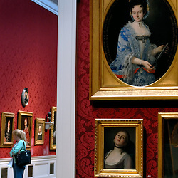 Eighteenth and seventeenth century art graces the crimson walls of the Walters Art Museum...Photo by Susana Raab