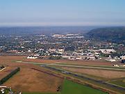 Aerial view of Prairie du Chien, Wisconsin.