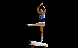 Netherland's Sanne Wevers on her way to winning the women's beam final during day four of the 2018 European Championships at The SSE Hydro, Glasgow.